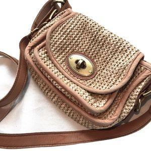 Fossil Vintage Woven Straw Crossbody Bag